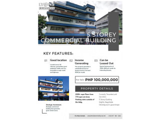 5-Storey Commercial/Residential Building for Sale in Caloocan City