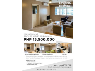 2BR Condominium Unit for Sale in South of Market Private Residences, BGC Taguig