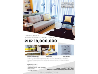 1BR Condominium Unit for Sale at Point Tower, Park Terraces, Makati