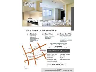 2 BR Condominium Unit in Avida Towers Prime Taft