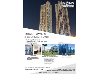 2 Bedtoom Unit in Trion Tower 3